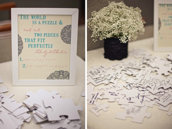 Friday Find: Puzzle Guest Books — Wedpics Blog