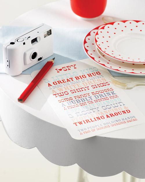 I SPY scavenger hunt game for kids wedding games wedding party blog