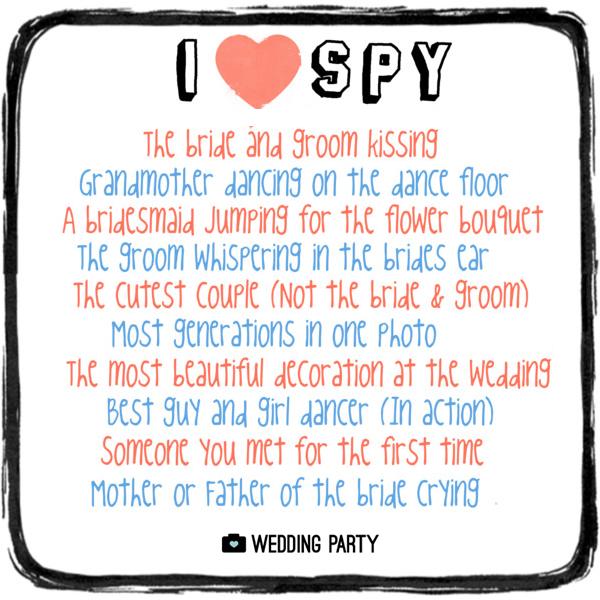 i spy wedding game i spy wedding party version games for weddings i spy list for wedding reception wedding party app wedding party blog