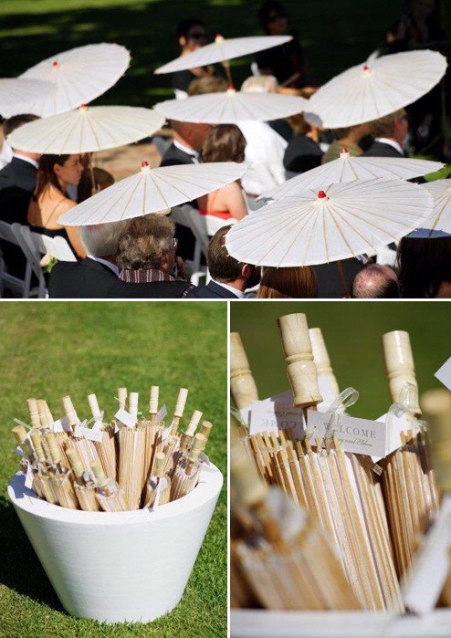 wedding_parasols wedding umbrellas for guests parasols for wedding guests wedding tips summer wedding wedding party blog