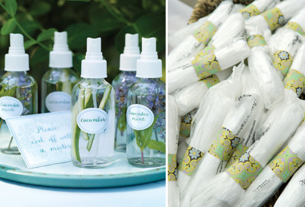 wet towels and lavender spray for wedding refresh station for wedding guests wedding party blog