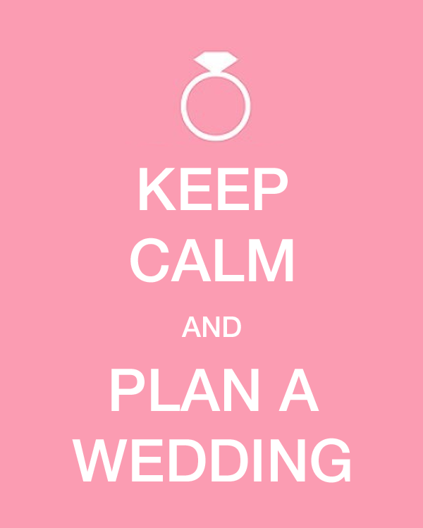 Keep Calm and plan a wedding. Wedding planning how to deal with wedding snark