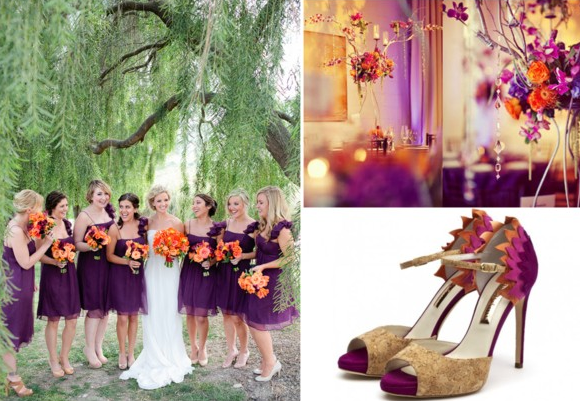 Wedding Inspiration: Plum and Pumpkin — Wedpics Blog