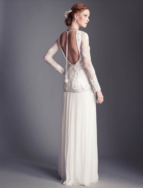 Temperley bridal florence 2013 collection Backless wedding gown low back bride bridal perfect open back statement sexy wedding dress