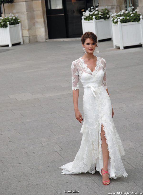 Walking Down The Aisle Brides With Sleeves Do It Better Wedpics Blog