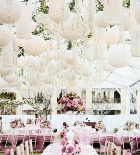 Wedding Decor Hanging Flowers Lanterns Chandeliers Lights
