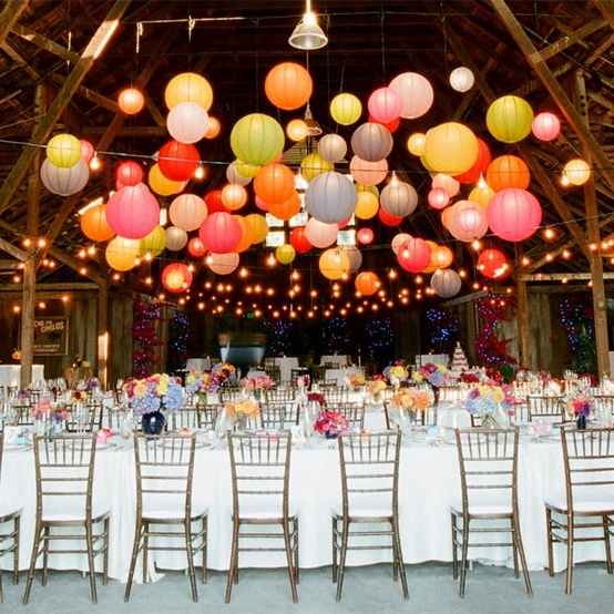 Wedding Decor: Hanging flowers, lanterns, chandeliers & lights ...