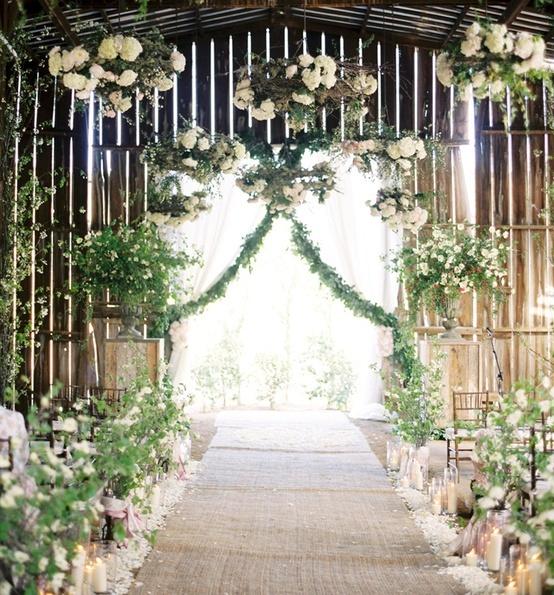 Wedding Decor: Hanging Flowers, Lanterns, Chandeliers