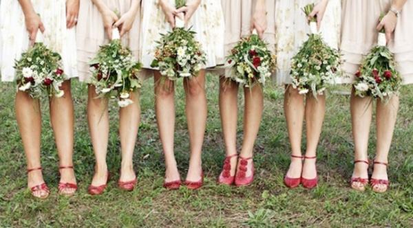 mismatched bridesmaid dresses, red bridesmaid shoes, bridesmaid feet picture, bridesmaids, bridesmaids advice, bridesmaids style, bridesmaids hairstyle, bridesmaids beauty, bridesmaids planning, how to choose your bridal party, bridal party advice, bridal party planning, bridal party checklist, bridesmaids checklist, bridesmaid checklist, maid of honor checklist, how to be a good bridesmaid, bridesmaid tips and tricks, wedding party app, rachel wilkerson, wedding app, wedding party blog, advice on choosing bridal party, who to choose for your bridal party, how to choose your bridesmaids, bridesmaid etiquette
