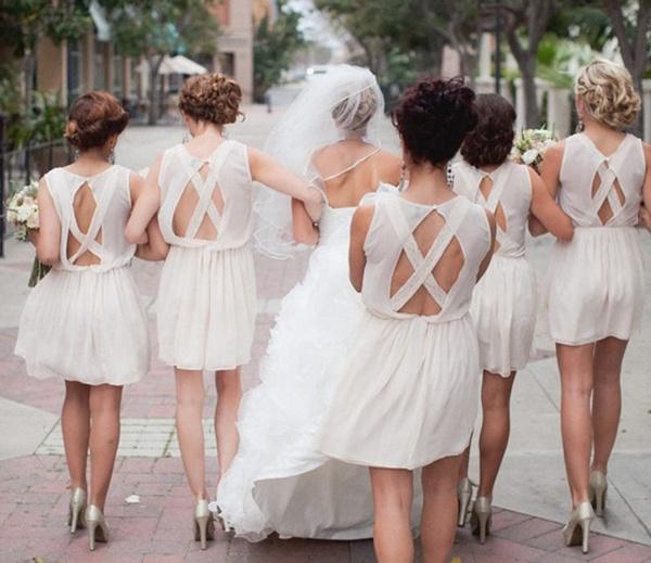 white bridesmaid dresses, open back bridesmaid dresses, bridesmaids, bridesmaids advice, bridesmaids style, bridesmaids hairstyle, bridesmaids beauty, bridesmaids planning, how to choose your bridal party, bridal party advice, bridal party planning, bridal party checklist, bridesmaids checklist, bridesmaid checklist, maid of honor checklist, how to be a good bridesmaid, bridesmaid tips and tricks, wedding party app, rachel wilkerson, wedding app, wedding party blog, advice on choosing bridal party, who to choose for your bridal party, how to choose your bridesmaids, bridesmaid etiquette