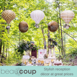Stylish reception décor at great prices