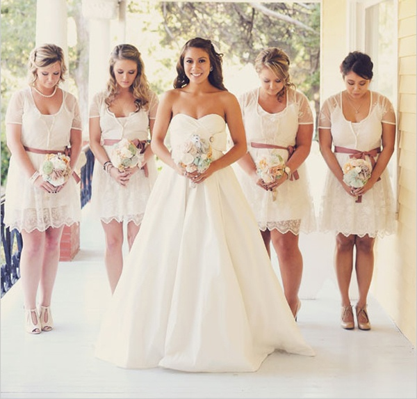 Lace Maid of Honor Dresses