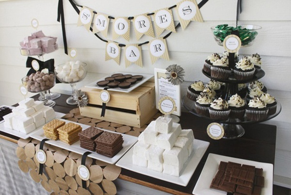 Wedding reception games and unique ideas to keep guests happy wedding smores bar diy wedding smores bar wedding bar wedding dessert bar wedding sweet bar wedding cookie bar wedding cake bar make your own smores junglespirit Images