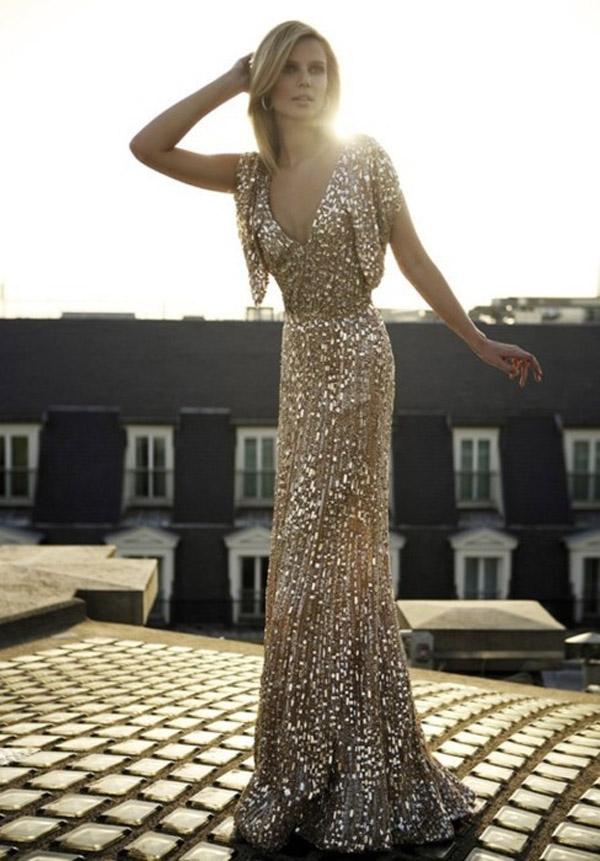 sequin elie saab wedding gown