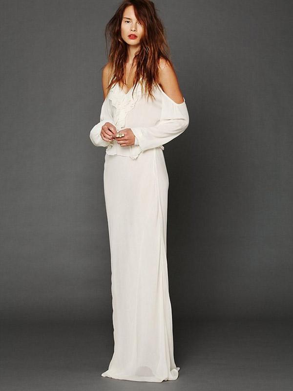 free people boho wedding gown