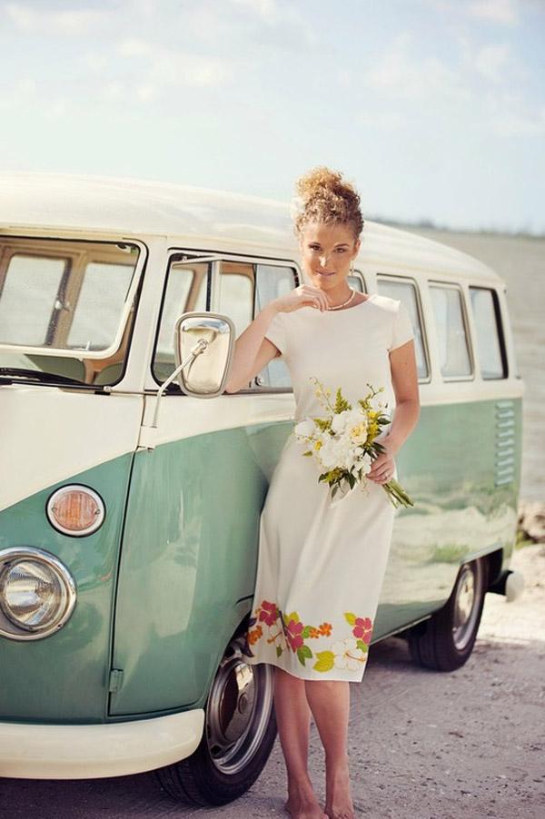 vintage floral wedding gown