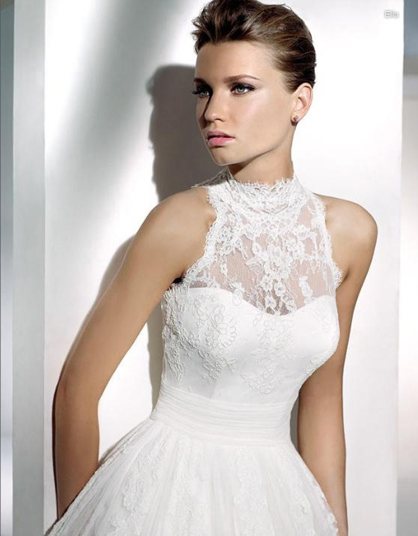 High Neckline Wedding Dresses