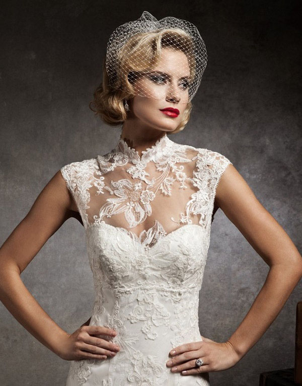 Hot Wedding Trends Wedding Dresses With High Necklines Wedpics Blog