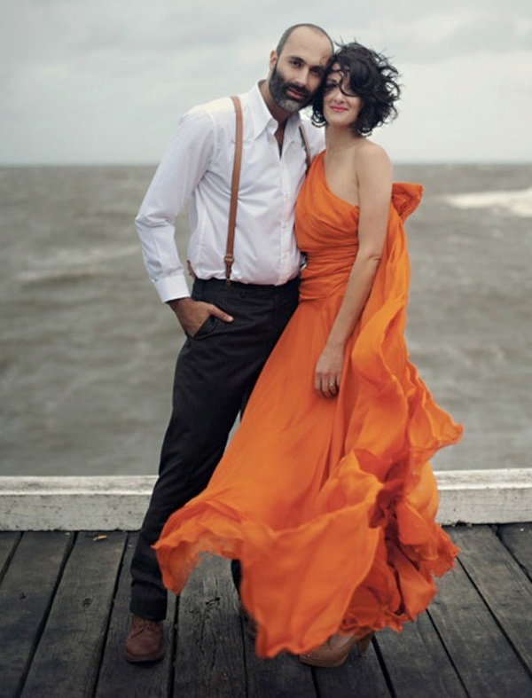 30 gorgeous wedding dresses that are not white — Wedpics Blog