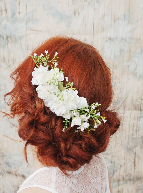 How To Wear Flowers In Your Hair Inspiration For The Boho Bride