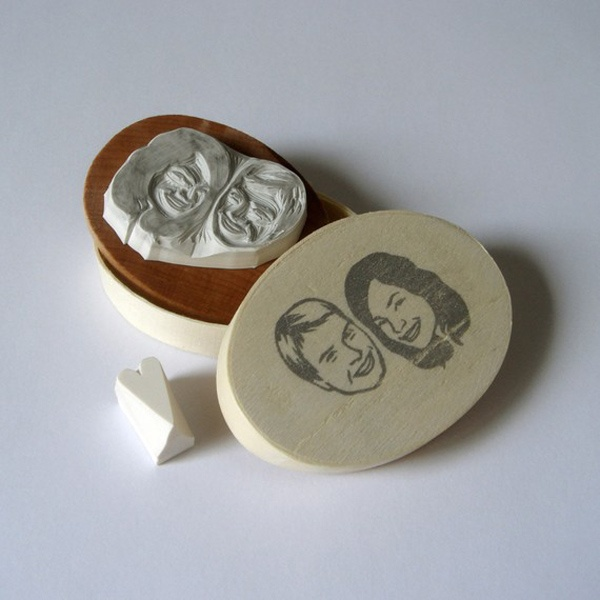 Etsy Finds Your Wedding Could Use A Bit Of And These Sweet Portrait Stamps Wedpics Blog