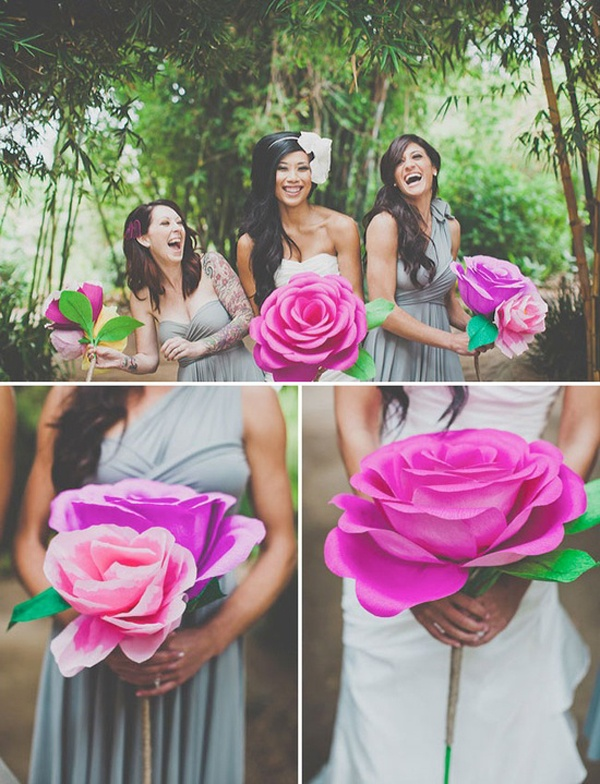 Diy giant paper rose for your wedding bouquet wedpics blog solutioingenieria Images