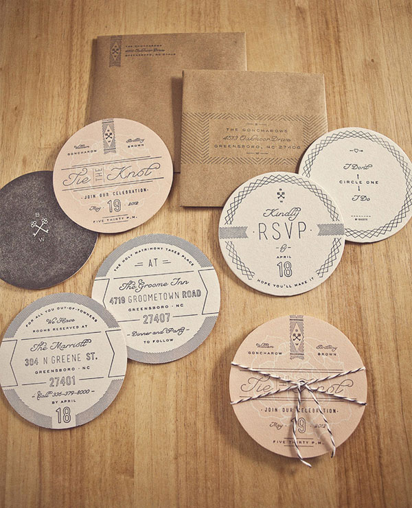 12 Unique Wedding Invitations For The Design Obsessed Bride And