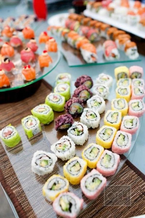 wedding, wedding day eats, alternative wedding day eats, food, wedding food, wedding reception food, wedding reception, mini food, food bar, wedding party, sushi bar, wedding sushi bar, mini food bar