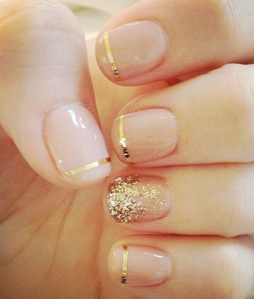 wedding nail, wedding manicure, bridal nails, bridal manicure mani, wedding nail art, wedding nail design, beauty, simple nails, glitter nails, french tip,  gold nails, silver nails