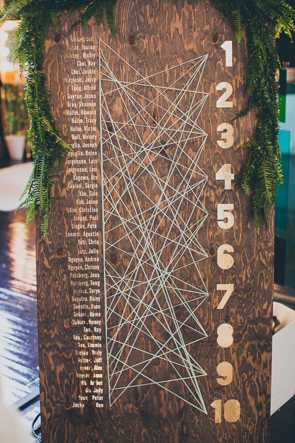 seating chart ideas string diy cool wedding idea