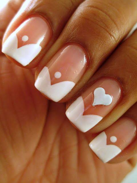 wedding nail, wedding manicure, bridal nails, bridal manicure mani, wedding nail art, wedding nail design, beauty, simple nails, heart nails, awesome nails, chic nails