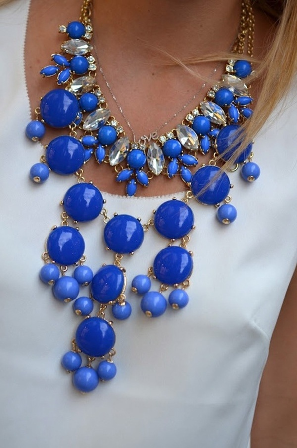 something blue, bridal traditions, wedding traditions, bride, groom, wedding, wedding inspiration, blue statement necklace, blue jewelry
