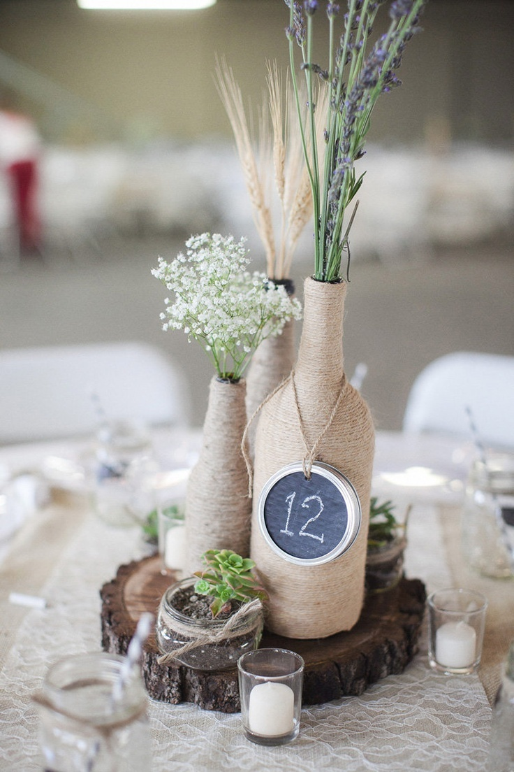 7 wine bottle centerpieces to diy for your wedding wedpics blog wedding centerpieces diy centerpieces wine bottle centerpieces centerpieces wedding decor wedding reception wine bottle wedding diy wine bottle junglespirit Images