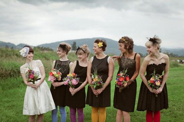 49573ca7cf5 Bridesmaids in black – Too dark or just perfect  — Wedpics Blog
