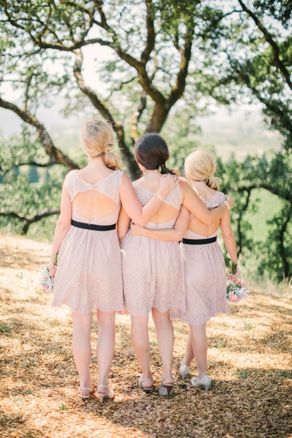 neutral backless bridesmaids dresses