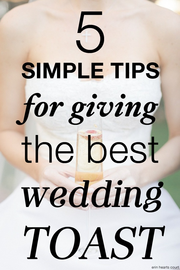 tips for giving the best wedding toast