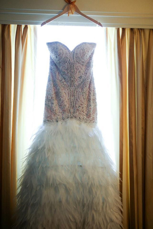Are fabulous feathers the best wedding dress trend for 2014 ...