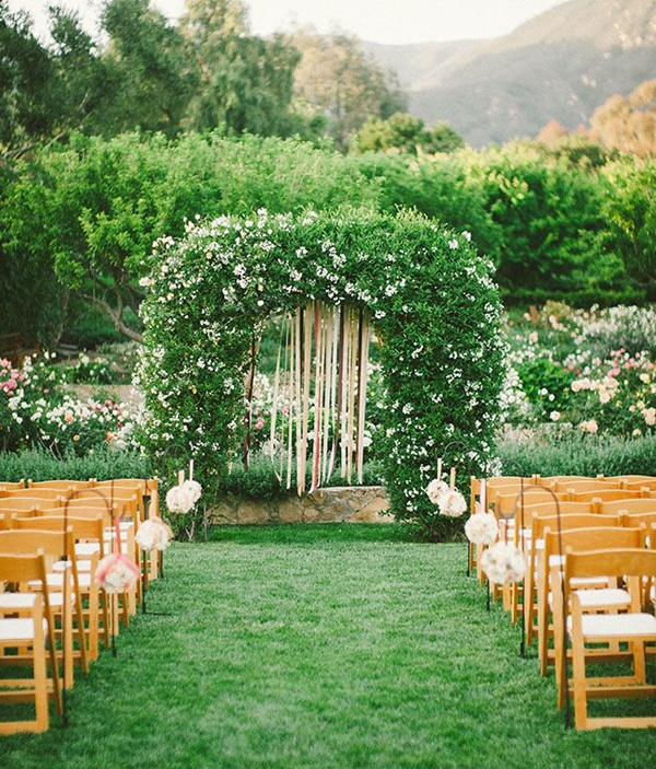 leaf wedding arch