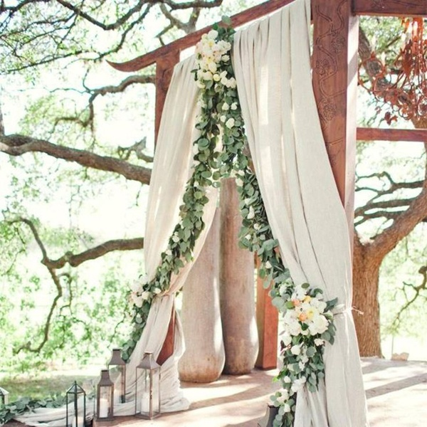 leafy wedding ceremony arch