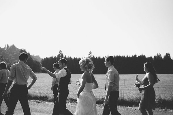 wedding party casual photo