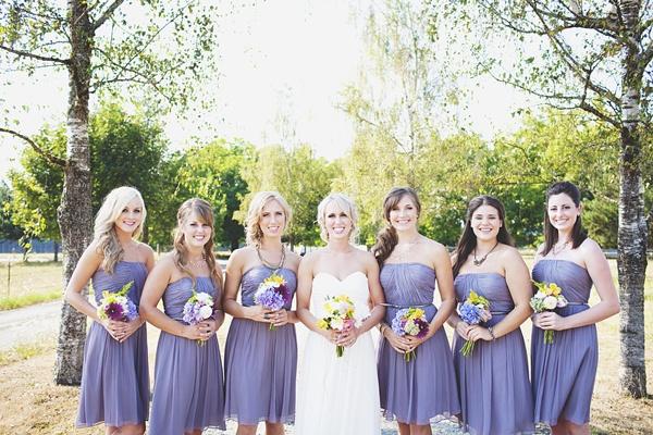 bridesmaids lilac dresses