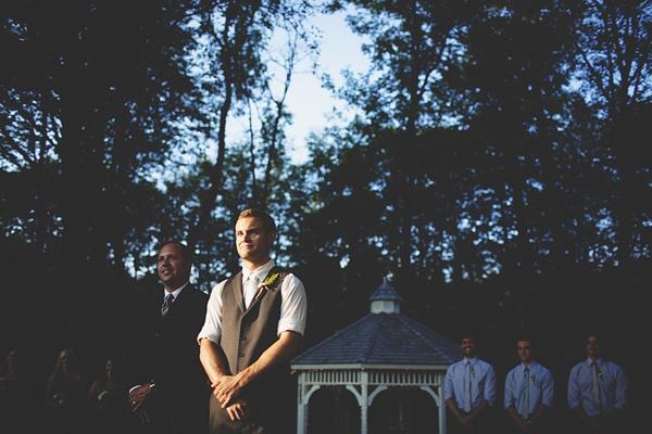 groom wedding ceremony photo