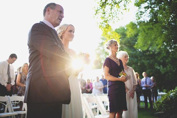 bride walking down aisle wedding photo