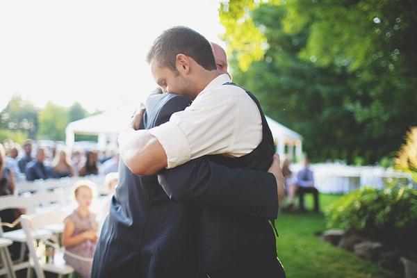 father son wedding photo
