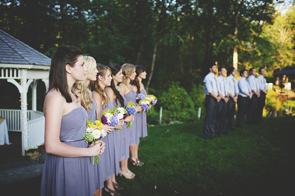 wedding party ceremony positions