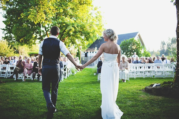 outdoor sunset wedding ceremony