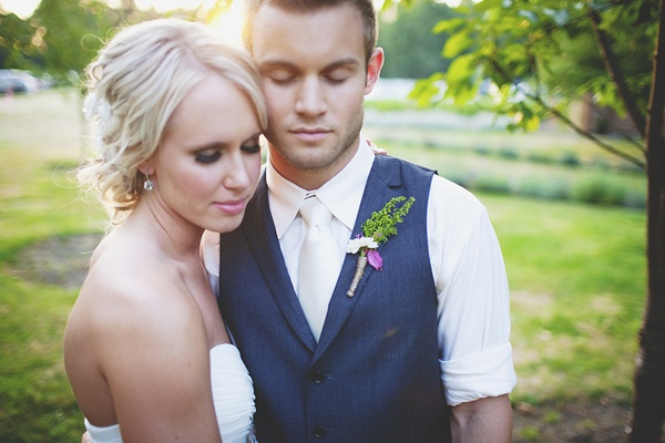 intimate bride groom photo