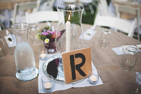 shabby chic wedding reception decor
