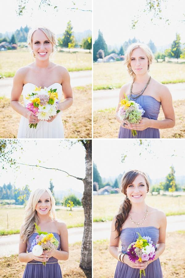 bridesmaids lilac dresses photography
