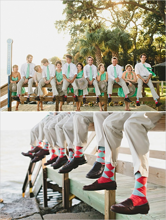groomsmen color accents